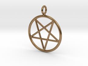 Overturned pentagram necklance (simple) in Natural Brass