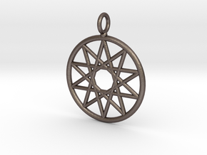 Simple decagram necklace in Polished Bronzed Silver Steel