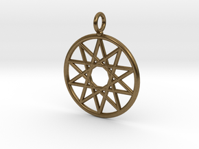 Simple decagram necklace in Natural Bronze