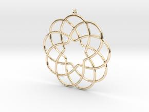 Cyclic-harmonic Pendant in 14k Gold Plated
