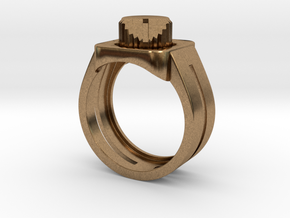 303 Acid Ring in Natural Brass: 7 / 54