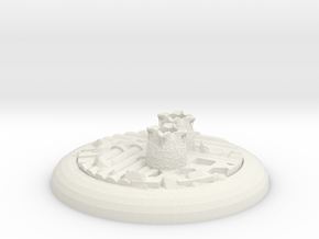 Alienbase 40mm Round in White Strong & Flexible