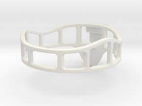 Candel Holder in White Natural Versatile Plastic
