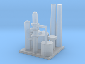 Oil Refinery in Smooth Fine Detail Plastic