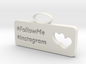 Instagram charm in White Strong & Flexible