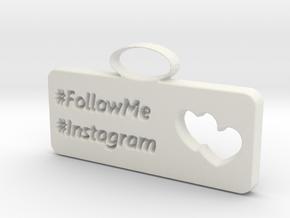 Instagram charm in White Natural Versatile Plastic