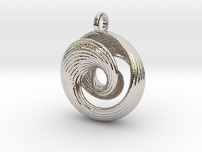 Mobius IV in Rhodium Plated Brass
