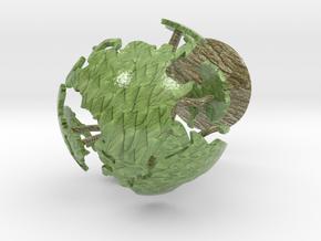Tree Globe Desk Art in Coated Full Color Sandstone