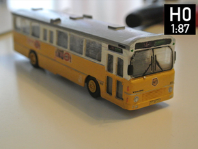 Volvo B10m Bus 2-2-0 H0 Scale in Smooth Fine Detail Plastic