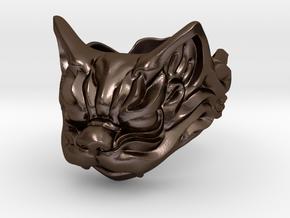 Fu Cat (Komaneko) Ring in Polished Bronze Steel: 13 / 69