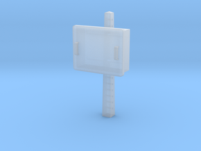 TJ-H04678 - Boitier STM sur poteau béton in Smooth Fine Detail Plastic
