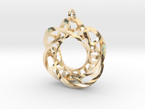 5,4 Torus Knot Ladder Pendant in 14K Yellow Gold
