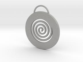 Endless Cirkle pendant.  in Raw Aluminum