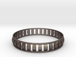 Special 1 Bracelet XL in Polished Bronzed Silver Steel