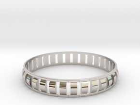 Special 1 Bracelet XL in Rhodium Plated Brass
