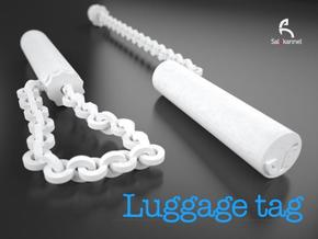 TUBE-Luggage tag in White Natural Versatile Plastic