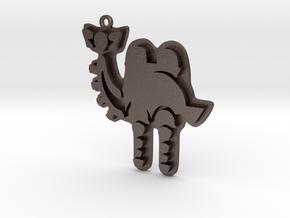 Zelda Divine Beasts Vah Naboris pendant botw in Polished Bronzed Silver Steel