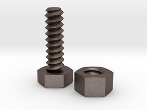 Bolt 8x25 and Nut (standard)  in Stainless Steel
