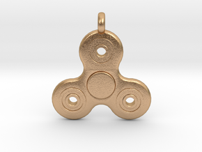 Fidget Spinner Pendant/Keychain in Natural Bronze