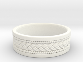 Braided Knot Ring in White Processed Versatile Plastic: 4.5 / 47.75
