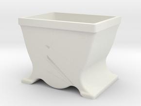 Schraubenkästchen Bauhaus 27mm in White Natural Versatile Plastic