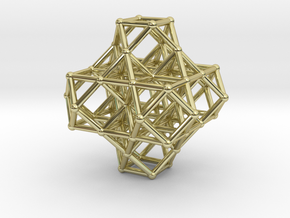 7 VE cluster, 8 Octahedron, Cellular Universe in 18k Gold Plated