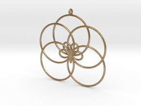 Cyclic-harmonic Pendant 1 in Polished Gold Steel