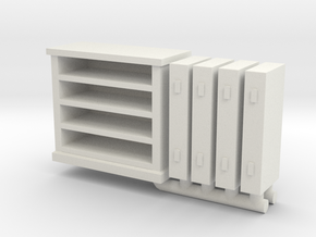 Bedroom Bureau 01. O scale (1:48) in White Natural Versatile Plastic