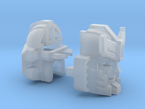Silverblue Deamon's Head Combiner Version in Smooth Fine Detail Plastic