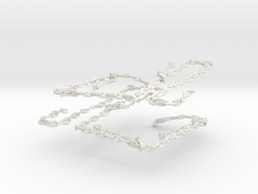 1/48 USN Anchor Chain in White Natural Versatile Plastic