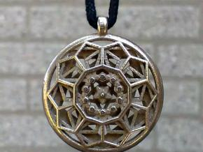 Dodecastar Pendant in Polished Bronzed Silver Steel