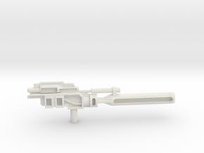 Optimus Prime kanon kleiner in White Natural Versatile Plastic