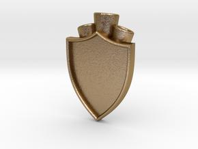 Plume Holder Camelot in Polished Gold Steel