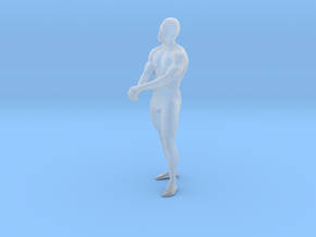 Strong male body 001 scale in 10cm in Smoothest Fine Detail Plastic: Extra Small