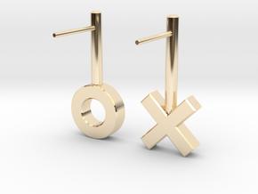XO Earrings in 14K Yellow Gold
