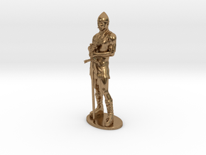 Human Fighter Miniature in Natural Brass: 1:55