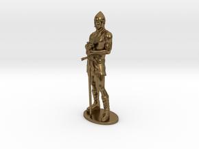 Human Fighter Miniature in Natural Bronze: 1:55