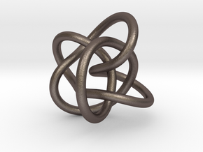 Perko Knot in Polished Bronzed Silver Steel
