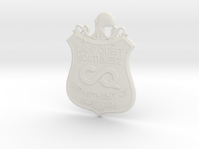 CQNW Badge in White Strong & Flexible
