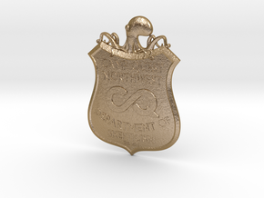 CQNW Badge in Polished Gold Steel