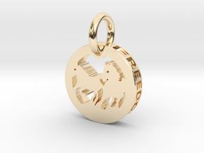 FREEDOM (precious metal pendant) in 14K Yellow Gold