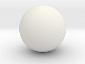 Test Sphere Hollow 2 in in White Natural Versatile Plastic