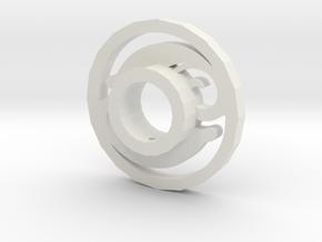 Lightsaber Tsuba Design 2 in White Strong & Flexible