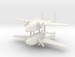 1/350 Fairchild C-119 Boxcar (x2) in White Natural Versatile Plastic