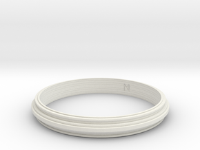 MizNK Bracelet NO.406 Inspired by Urban Sky-Line in White Natural Versatile Plastic: Small