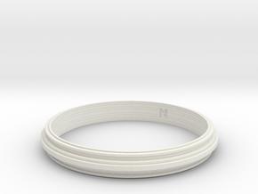 MizNK Bracelet NO.406 Inspired by Urban Sky-Line in White Natural Versatile Plastic: Small