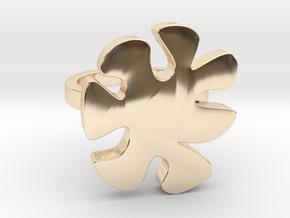 Asymmetric Ring  in 14k Gold Plated Brass: 9 / 59