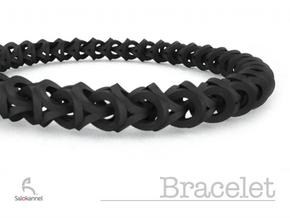 Bracelet - Crossover in White Natural Versatile Plastic
