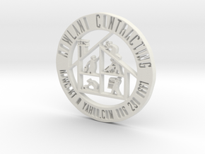 RCS Business Token in White Natural Versatile Plastic