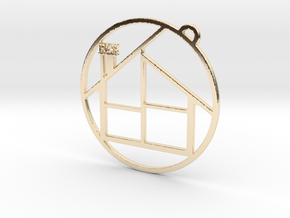 RCS House in 14K Yellow Gold